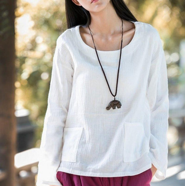 Asymmetric Hem Front Pocket Shirt