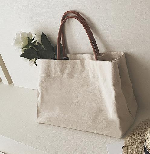 Large Canvas Shopping Bag
