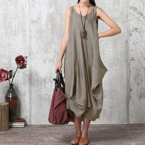 Long Crew Neck Tank Dress