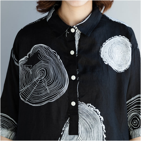 Short Sleeve Print Swing Shirt