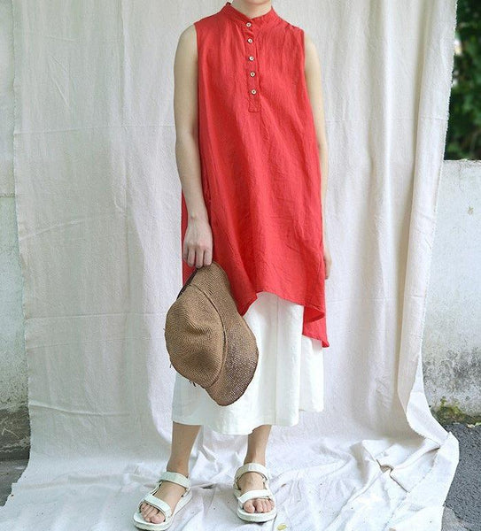 Cotton Linen Sleeveless Tunic