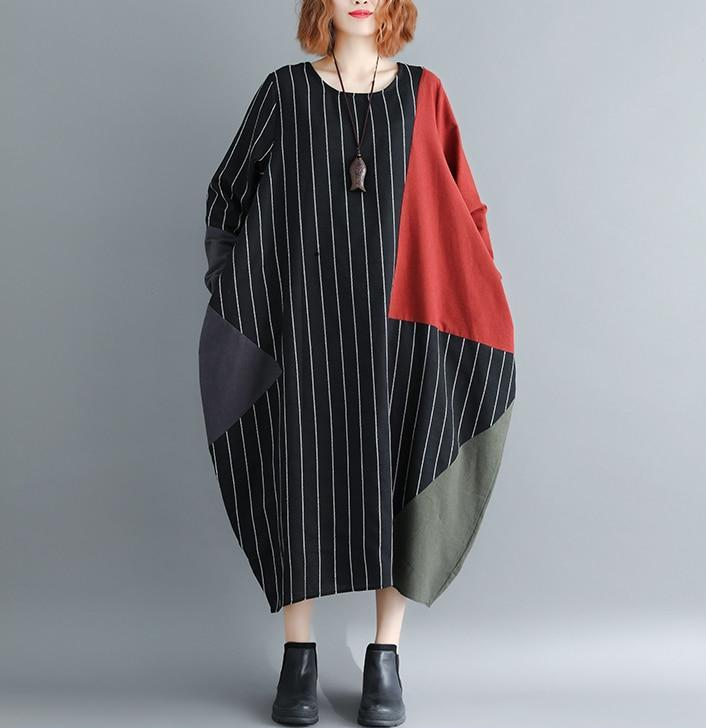 Striped Patchwork Dress