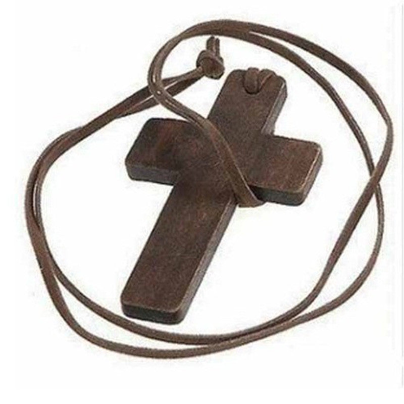 Free Wood Cross Pendant & Necklace