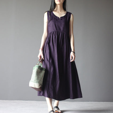 Sleeveless Cotton Summer Dress