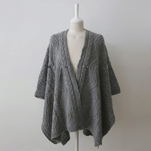V Neck Wing Sleeve Knit Cardigan Sweater