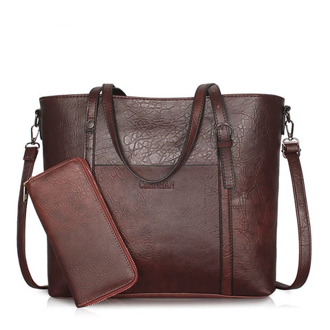 Vegan Leather Cross-body Bag