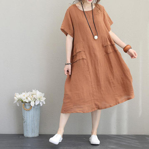 Loose Fit Short Sleeve Dress