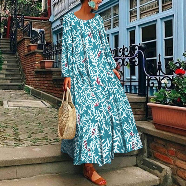 Long Floral Print Sundress