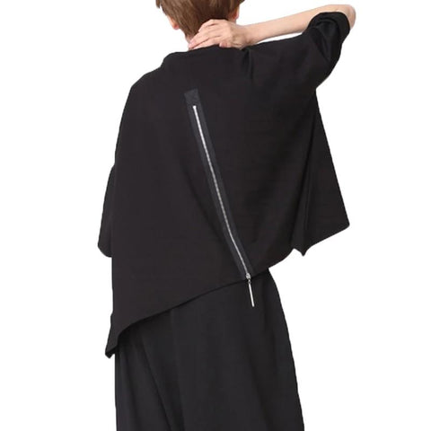 Back Zip Wing Sleeve Shirt