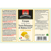 "Gourmante Cream made from ""Aceto Balsamico di Modena IGP"" with Lemon 250ml"