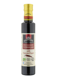 Gourmante BIO Red Balsamic Vinegar with Cayenne Pepper 250ml