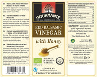Gourmante BIO Red Balsamic Vinegar with Honey 250ml