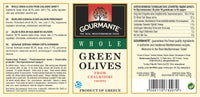 Gourmante Whole Green Olives in Brine 360gr