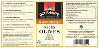 Gourmante Green Olives Stuffed with Whole Almonds in Brine 360gr