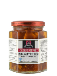 Gourmante Cheese Stuffed Red Sweet Peppers in Sunflower Oil 260gr