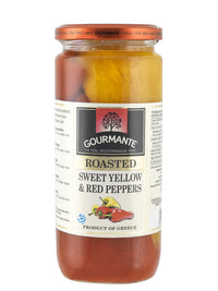 Gourmante Roasted Sweet Yellow & Red Peppers in Brine 450gr