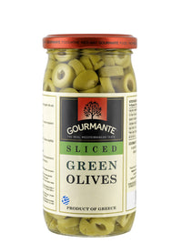 Gourmante Sliced Green Olives in Brine 360gr