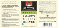 Gourmante Sliced Kalamata & Green Olives in Brine 360gr