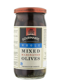 Gourmante Whole Mixed Marinated Olives in Brine 360gr