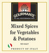 Gourmante Mixed Spices for Vegetables & Potatoes 30gr