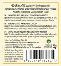 Gourmante Mixed Spices for Roasted Meat & Hamburgers 22gr