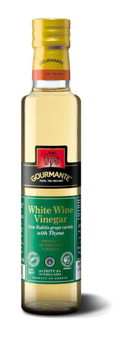 Gourmante BIO White Wine Vinegar with Thyme 250ml