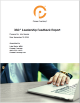 Cover page 360 degree leadership feedback Pioneer Coaching