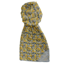 Men's Yellow New York Long Cotton Scarf