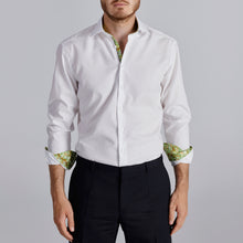 Men's Green New York Mood Slim Fit Non-Iron Shirt