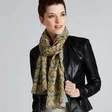 Women's Yellow New York Long Cotton Scarf