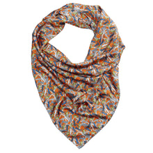 Women's Orange New York Square Silk Scarf
