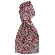 Women's Red London Long Cotton Scarf