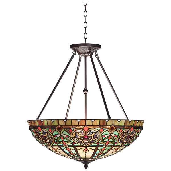 Corazon Bronze 25wide Robert Louis Tiffany Pendant Light