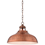Essex 16wide Dyed Copper Metal Pendant Light