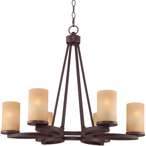 Fairport 6 Light 28wide Bronze Chandelier