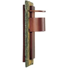 Kembra Slate Copper 19high Outdoor Wall Sconce