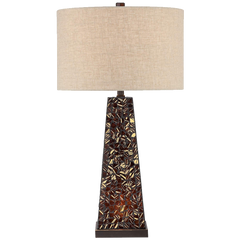 Possini Euro Design Lorin Mosaic Tile Nightlight Table Lamp