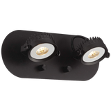 Spotlight Plug In Led Brown Two Head Wall Lamp