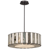 Tiffany Style 20wide Striped Art Glass Pendant Light