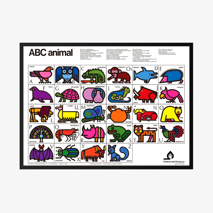 ABC Animal Poster – Colour