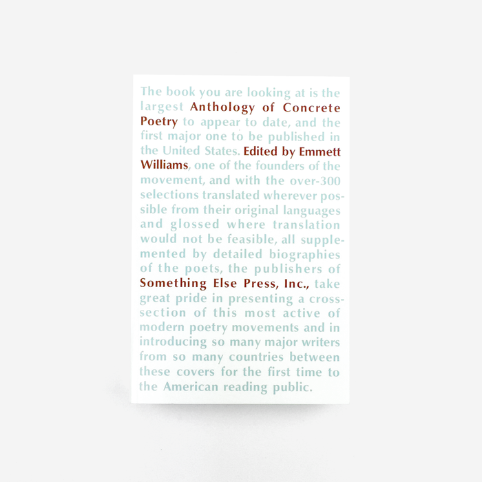 Anthology of Concrete Poetry