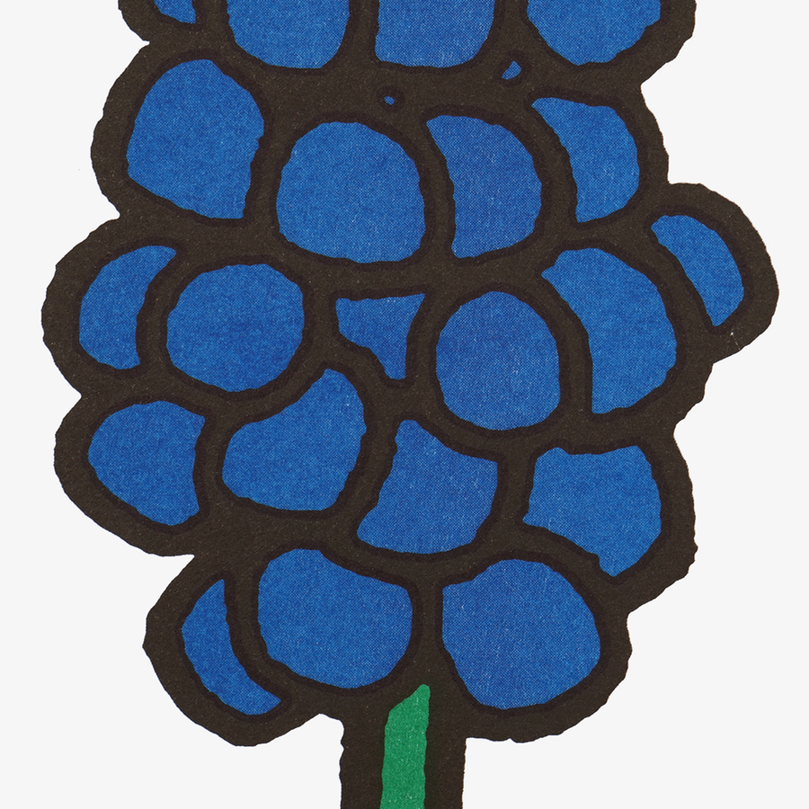 Dick Bruna Bluebell Riso Print