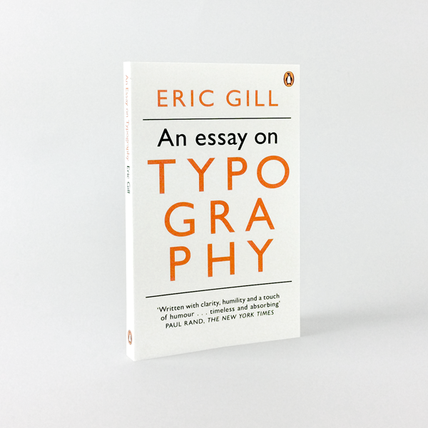 eric gill an essay on typography counter print eric gill an essay on typography