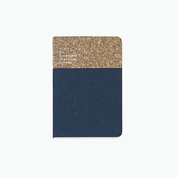 Small Cork Notebook – Blue