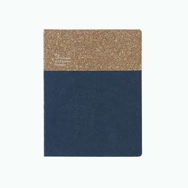 Large Cork Notebook – Blue