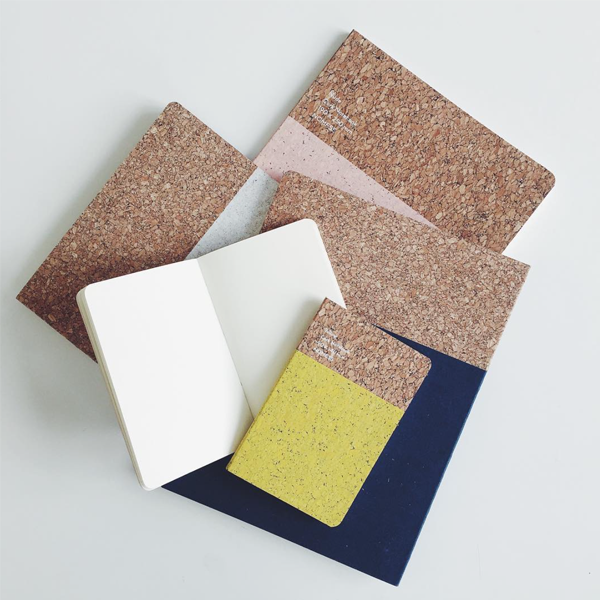 Large Cork Notebook – White
