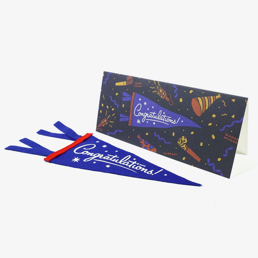 Congratulations! Mini Pennant and Greetings Card