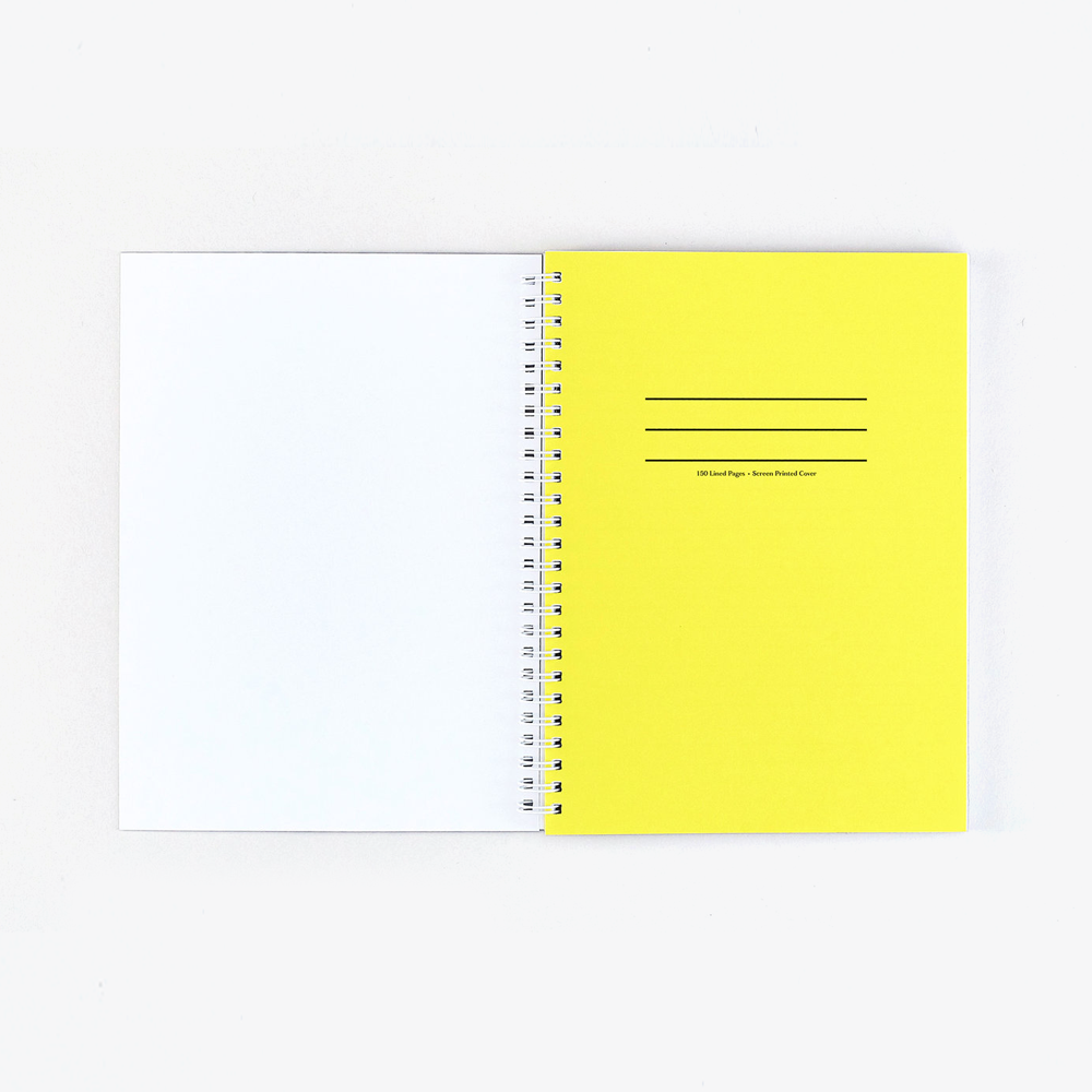 Ripple White Notebook