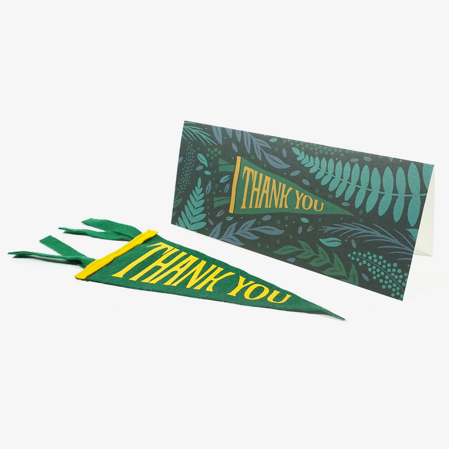 Thank You Mini Pennant and Greetings Card