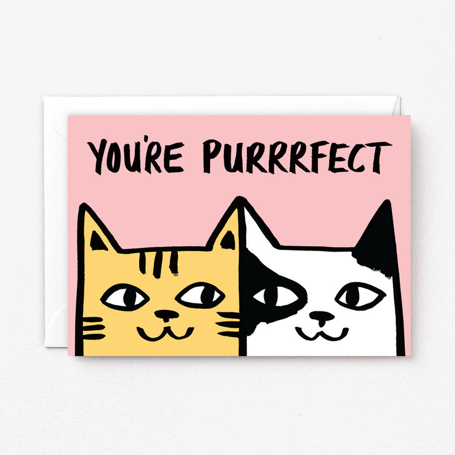 You're Purrrfect Card